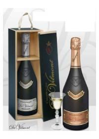 Vino Champagne Rosé Cuvée Prestige Brut Rosé Millésime Magnum Wood Box